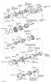 nd brake clutch pack clearance specifications toyota sequoia 16 exploded view of a340 series internal components