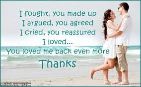 Thank You Messages For Husband: Quotes And Notes For Him ...