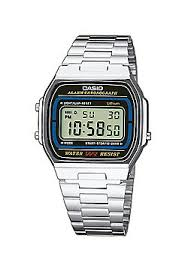 buy men s watches from our men s watches range tesco casio classic unisex stainless steel chronograph watch a164wa 1ves