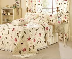 ss crewel work bedding set curtain set and cushion covers bedding and curtain sets
