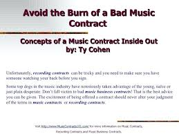 Music Contract Music Recording Contract Template Mymuso Co