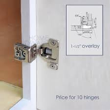 10 pc soft close frame cabinet door hinge 1 12 overlay 3 way