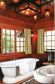 awesome bathroom with arts and crafts lighting idea for sweet look