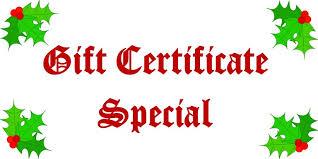 Holiday Gift Certificates Holiday Gift Certificate Special Balistreris Italian