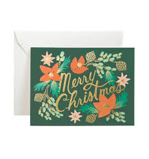 Photo Christmas Card Golden Garland Greeting Card By Rifle Paper Co Made In Usa