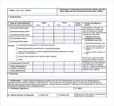 Leave Of Absence Form Template Sample Medical Leave Form 13 Download Free Documents In