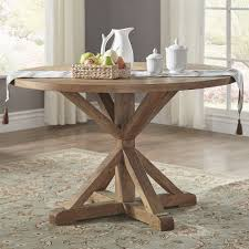 Shop Benchwright Rustic X Base 48 Inch Round Dining Table Set By