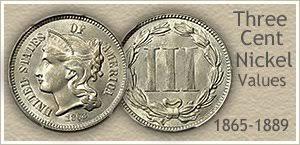 Three Cent Nickel Values 13 Of 25 Are Very Rare