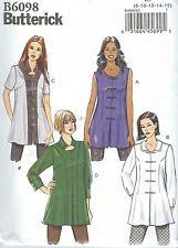 Tunic Sewing Pattern New Uncut Butterick Misses 4848 Easy Loose Fit Front Button Tunic Tops