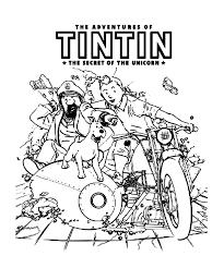 Dessin A Colorier Gratuit Tintin