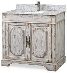 36 Litchfield Off White Rustic Bath Vanity Farmhouse Bathroom Vanities And Sink Consoles By Chans Furniture Houzz