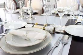 fine dining table. excellent dining room decoration using fine table setting : beauteous gold f