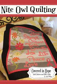 Nine powerful words based on Biblical truths transform your ... & Applique Lap Quilt & Throw Patterns - Covered in Hope Quilt Pattern Adamdwight.com
