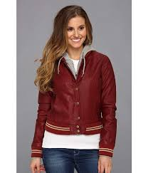 obey varsity lover burdy juniors faux leather jacket l at obey varsity lover burdy juniors faux leather jacket l at women s coats