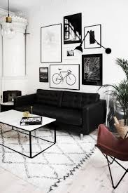 We love the look of this monochrome living room- velvet material is a great  choice for a black sofa as it softens the look whilst looking dark and ...