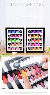Nail Color Chart 80 Blanks Acrylic Nail Gel Polish Color Chart Magnetic For Nail Art Display Book Buy Leather Display Book For Nail Acrylic Nail Color Chart Nail