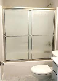 showers rain glass shower doors door framed photo gallery precision tub slider brushed nickel finish
