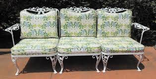 Antique iron patio furniture Black Rod Iron Woodard Outdoor Furniture Vintage Incredible Sofa Chantilly Rose Wrought Iron Patio In Pickintimeappcom Woodard Outdoor Furniture Vintage Incredible Sofa Chantilly Rose