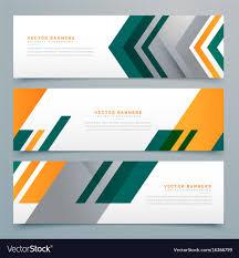 Business Banner Design Geometric Business Banner Design Set Royalty Free Vector