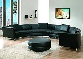 modern line furniture. Modern Line Furniture 8004B-G9 Contemporary Leather Long Curved Sectional Sofa With Ottoman Restaurant/