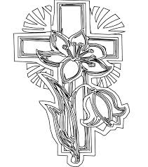 Stained Glass Cross Coloring Page Printable Cross Coloring Pages
