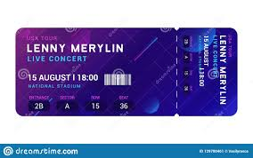 concert ticket maker concert entrance vector ticket templates party event