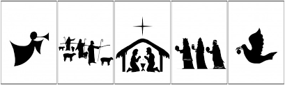 nativity silhouette printable. Free Printable Nativity Banner Uncommon Designs For Silhouette