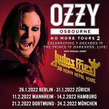 The former black sabbath singer had already called off the uk and image captionozzy and sharon osbourne announced that no more tours 2 would be the singer's final full world tour last february. Ozzy Osbourne No More Tours 2 Berlin Mercedes Benz Arena Berlin 26 January 2021