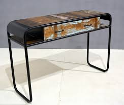 O Indus Trade  Recycled Colorful Wood And Metal Industrial Collecti  Console Tables