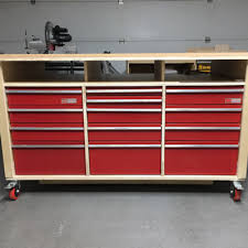 metal workbench with drawers. workbench with recycled drawers metal