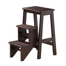 Boraam Industries 3-Step Wood Step Stool