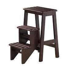 boraam industries 3 step 225 lbs capacity black wood step stool