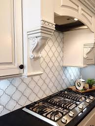 Kitchen With Glass Tile Backsplash Adorable Snow White Arabesque Glass Mosaic Tiles In 48 Home Decor