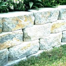 cement blocks wall pertaining to retaining decorating