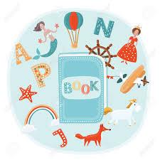 fairy tale concept vector cute cartoon ilration of ilration book and fantasy kids world fairytale