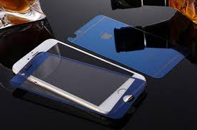 china tempered glass screen protector for iphone 6 6s plus electroplating blue color china screen protector tempered glass