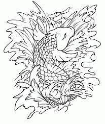 Small Picture 11 Pics Of Japanese Koi Fish Coloring Pages Koi Fish Coloring