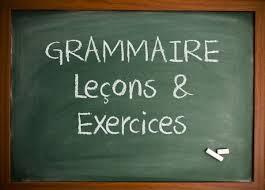 exercices de grammaire en français fle