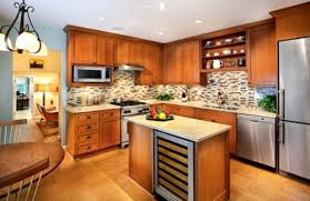 Image Of: Small L Shaped Kitchen With Small Island