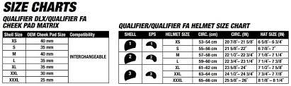 Bell Size Chart Details About Bell Qualifier Forced Air Helmet Xs 3xl Utv Off Road Dot Ece