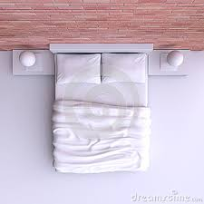 double bed top view. Double Bed Top View
