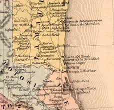 Old Map Of Mexico Republic 1859