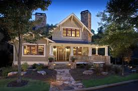 image of exterior modern craftsman style house plans