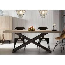 Moderner Esstisch Aus Holz Und Metall Easy