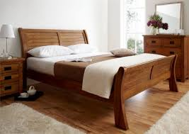 View in gallery Fabulous sleigh bed in lovely natural wood