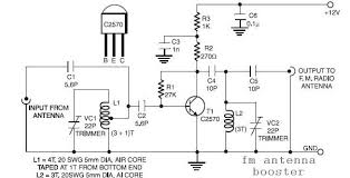 circuit zone com electronic projects electronic schematics diy fm antenna booster