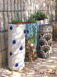 mosaic ideas for the garden pipe mosaic planter mosaic garden pots mosaic ideas for the garden