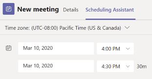 schedule a meeting in teams