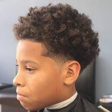 Kids Haircuts Curly Hair Fade Haircut