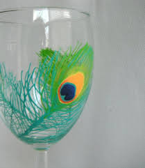Handpainted Wine Glass Peacock Feathers by JessicaLeighDesigns | Hand  painted wine glass, Painted wine glass, Crafts